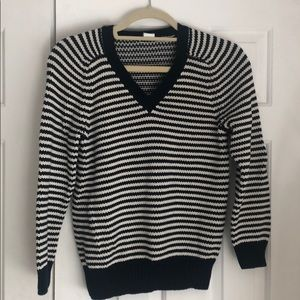 J Crew Striped Sweater 100% Cotton Size S